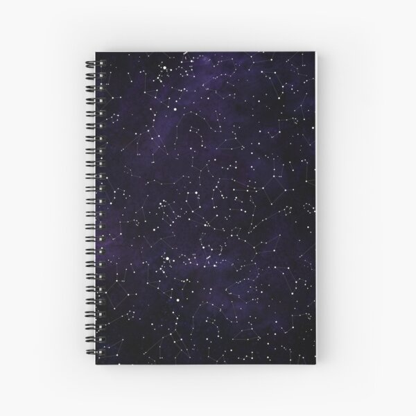 Northern Hemisphere Constellations Spiral Notebook