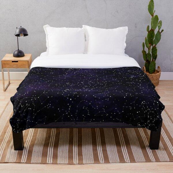 Northern Hemisphere Constellations Throw Blanket