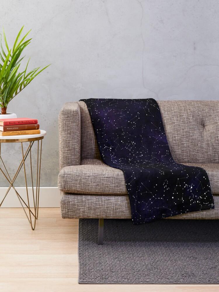 Alternate view of Northern Hemisphere Constellations Throw Blanket