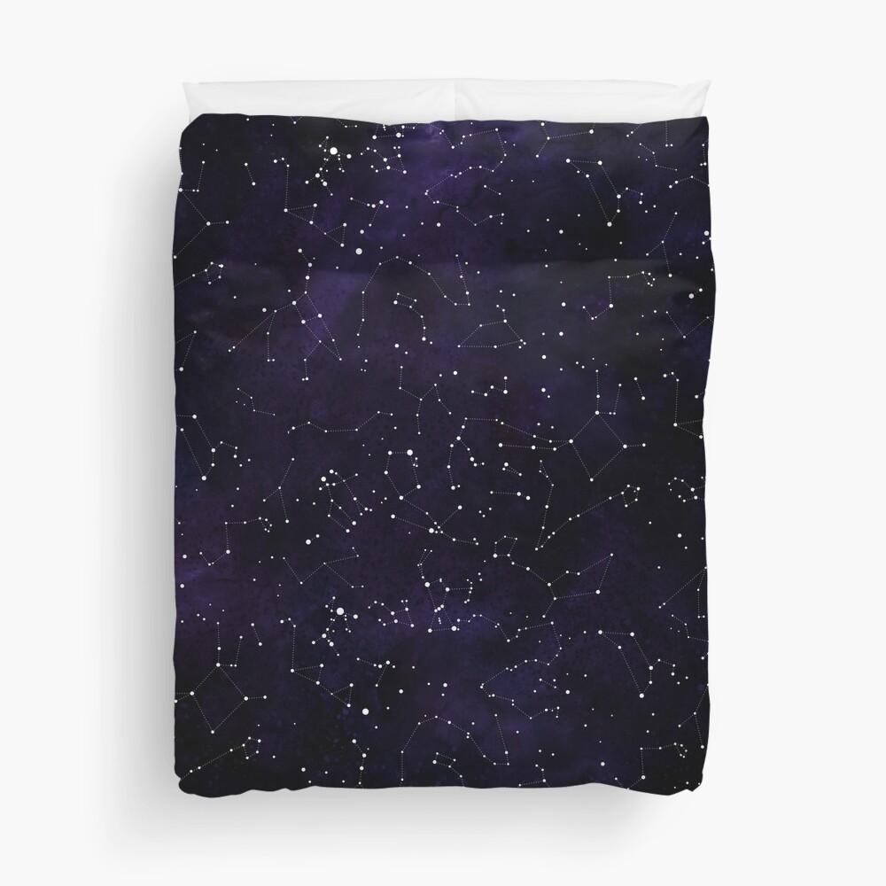 Northern Hemisphere Constellations Duvet Cover