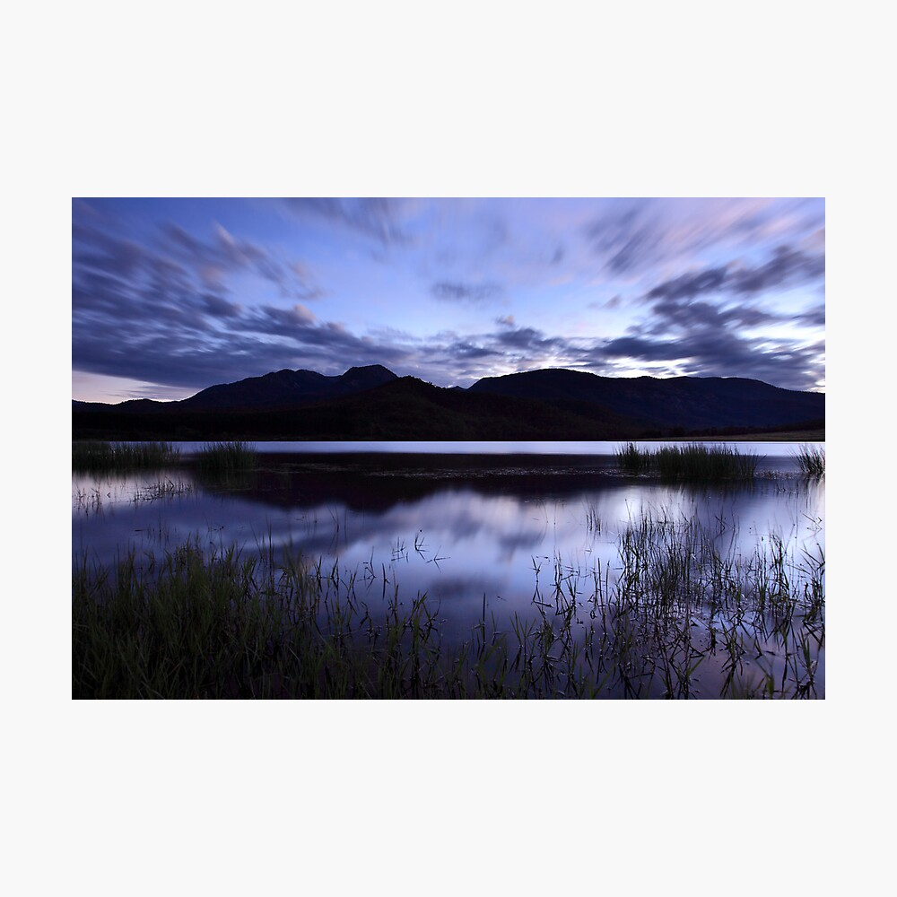 Dawn Reflections, Mount Buffalo, Victoria, Australia Photographic Print