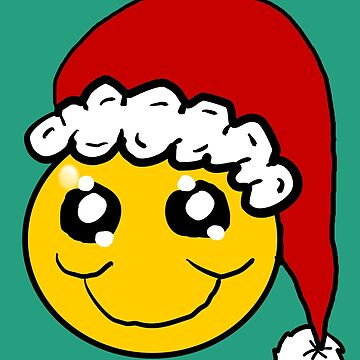Santa Smiley Face by Rajee