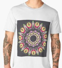 Black Red and Contrast Spinner Fall Into Winter Design from GreenBeeMee Men's Premium T-Shirt