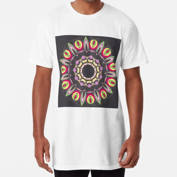 Black Red and Contrast Spinner Fall Into Winter Design from GreenBeeMee Long T-Shirt