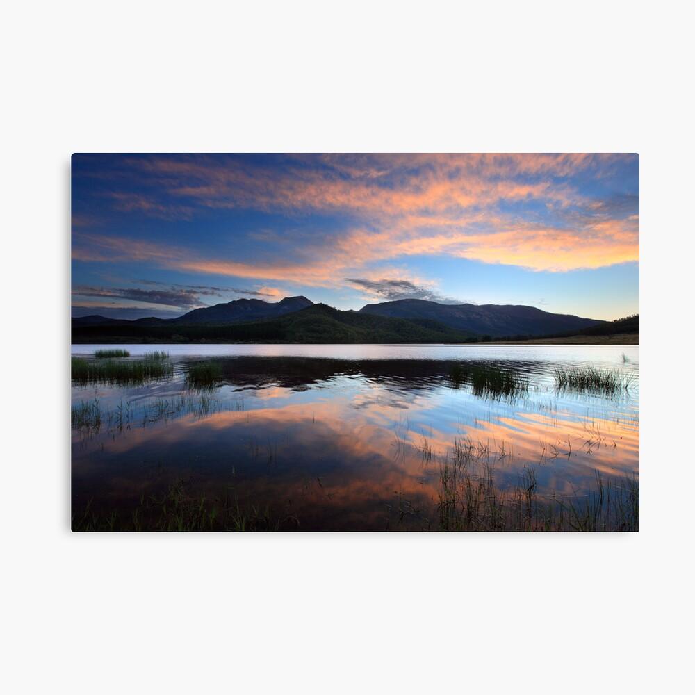 Dawn Reflections, Mount Buffalo, Australia Canvas Print