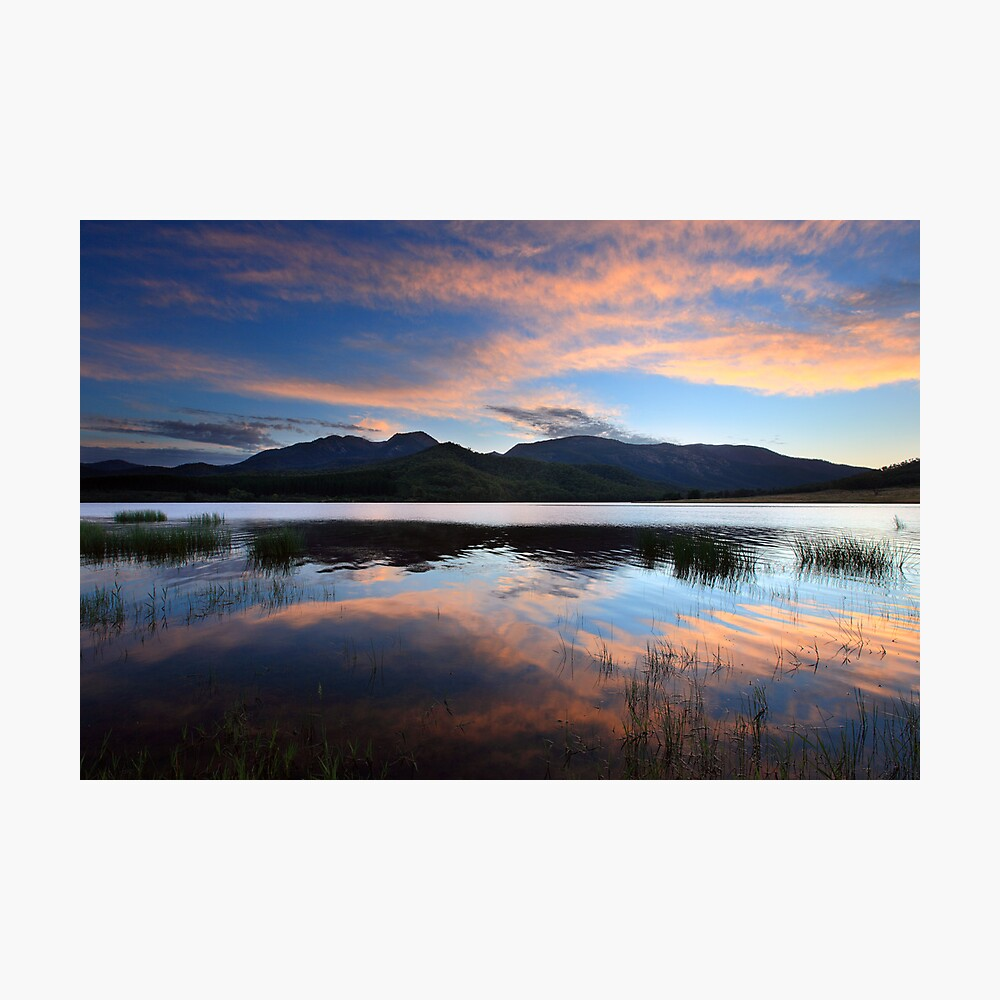Dawn Reflections, Mount Buffalo, Australia Photographic Print