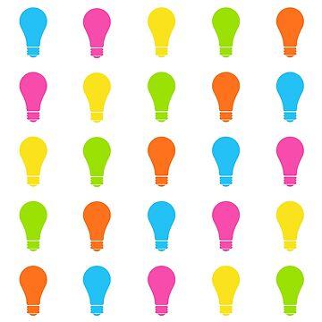 Colourful Bulbs Pattern by Hopasholic