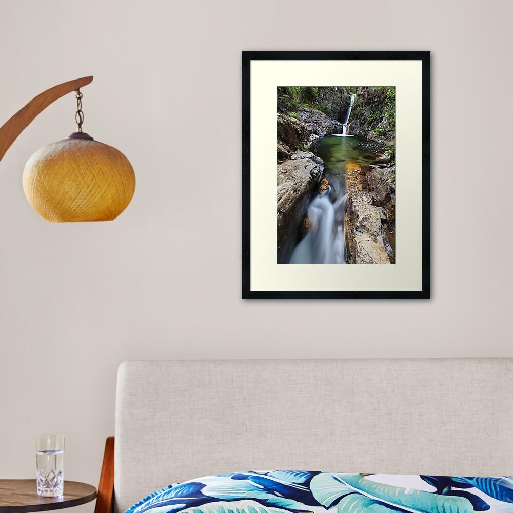 Rollason Falls, Mount Buffalo, Australia Framed Art Print
