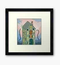 Fantasy landscape illustration, snake, snakes Framed Print