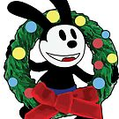Oswald Christmas Wreath by Gabrielle Cohen