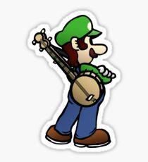 Banjo Luigi Sticker