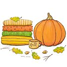Favorite Things of Fall Illustration by DottieBowles