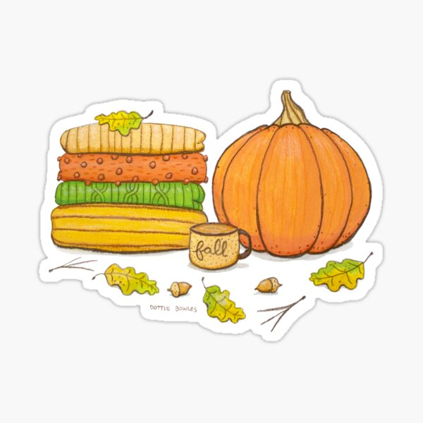 Favorite Things of Fall Illustration Sticker