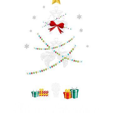 Christmas Light Ostrich Tree T Shirt Gift For Women Men Kids by kelvil