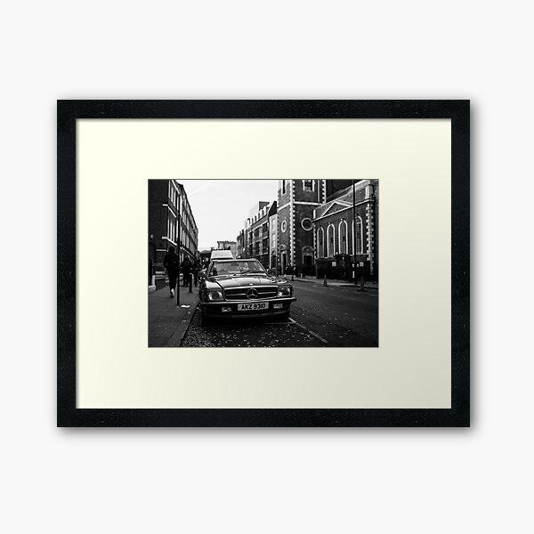Mercedes 450SL in London Framed Art Print