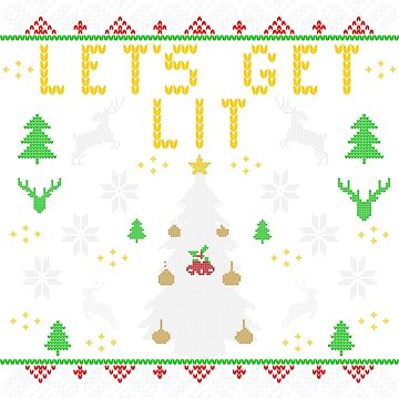 Let's Get Lit Funny Ugly Christmas Sweater For Drinkers by maindeals