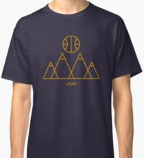 Minimalistischer Basketball in Utah Classic T-Shirt