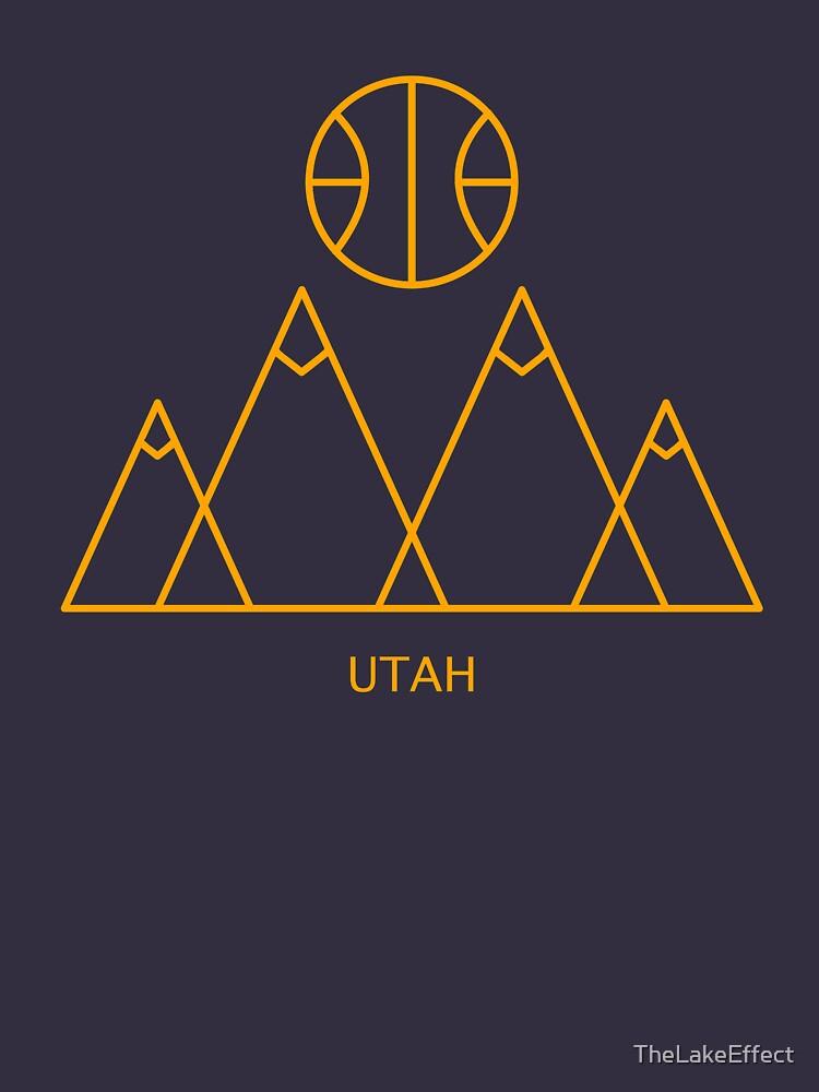 Minimalist Utah Basketball by TheLakeEffect