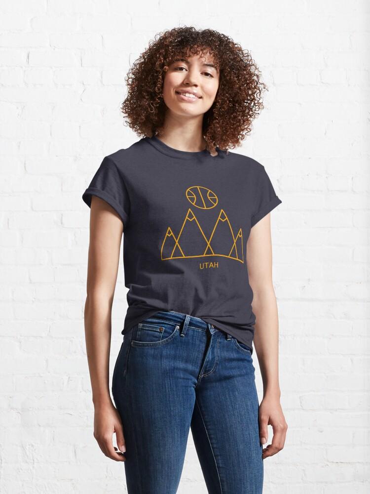 Alternate view of Minimalist Utah Basketball Classic T-Shirt