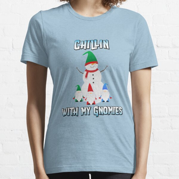 Snowman Chillin with My Gnomies - Funny Christmas Shirt Essential T-Shirt