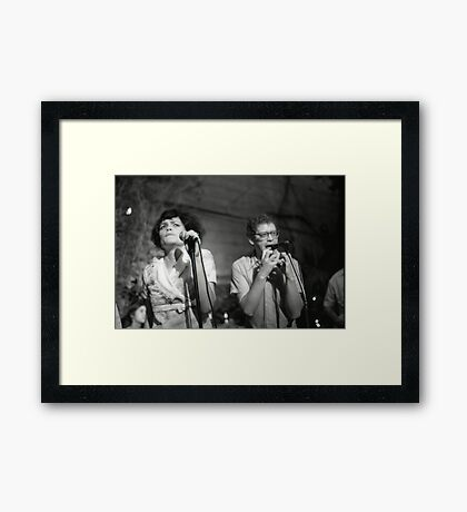 The Roofies at Mission Creek III Framed Print