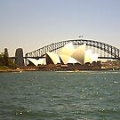 Opera House & Sydney Harbour Bridge by Adah