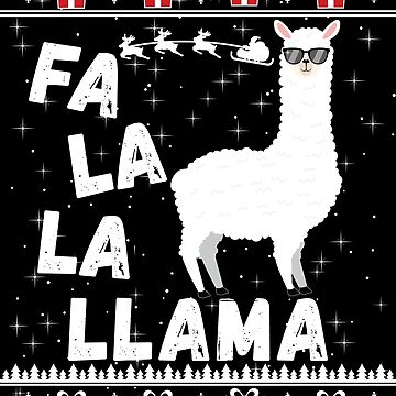 Funny Ugly Christmas Sweater Fa La La La Llama Alpaca Gift by maindeals