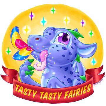 Retro Dragon Tasty Fairies by IDH-merch