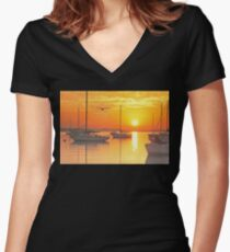Peaceful Beginnings  Women's Fitted V-Neck T-Shirt