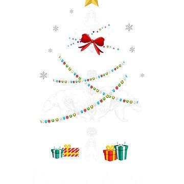 Christmas Light Bear Tree T Shirt Gifts For Women Men Kids by kelvil