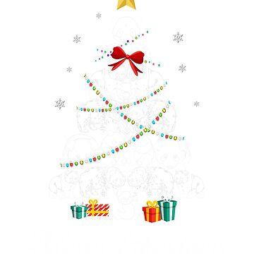 Christmas Light Panda Bear Tree T Shirt Gifts Women Men Kids by kelvil
