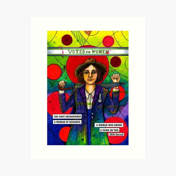 Edith Garrud Art Print