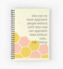 Cuaderno de espiral Cita de tolstoy