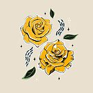 Gold Roses by Angelina Kein
