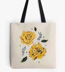 Gold Roses Tote Bag