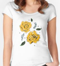 Gold Roses Fitted Scoop T-Shirt