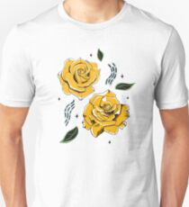 Gold Roses Slim Fit T-Shirt