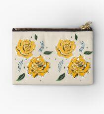 Gold Roses Zipper Pouch