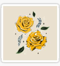 Gold Roses Sticker
