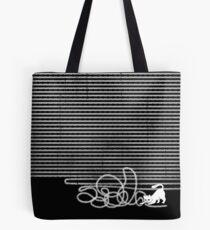 Enträtseln (weiße Katze) Tote Bag