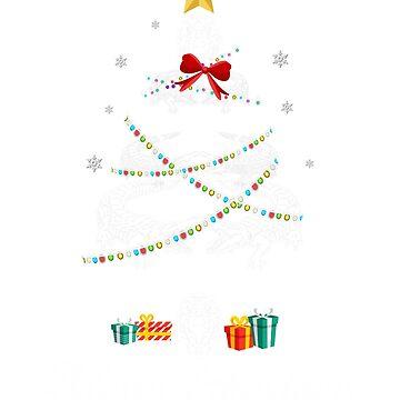 Christmas Light Crocodile Tree T Shirt Gifts Women Men Kids by kelvil