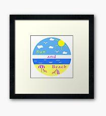 Summer leisure. Relax on the beach. Framed Print