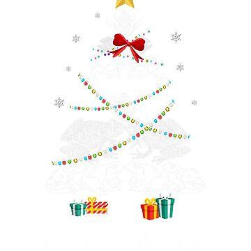 Christmas Light Frog Tree T Shirt Gifts For Women Men Kids by kelvil