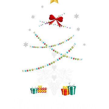 Christmas Light Dragon Tree T Shirt Gifts For Women Men Kids by kelvil