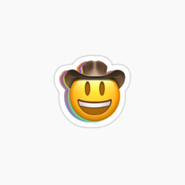 emoji de cowboy trippy Sticker