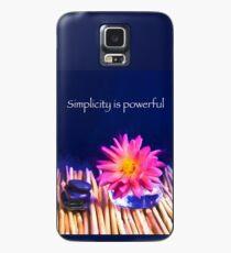 Einfachheit ist mächtig Zen Rocks Dahlien Hülle & Skin für Samsung Galaxy