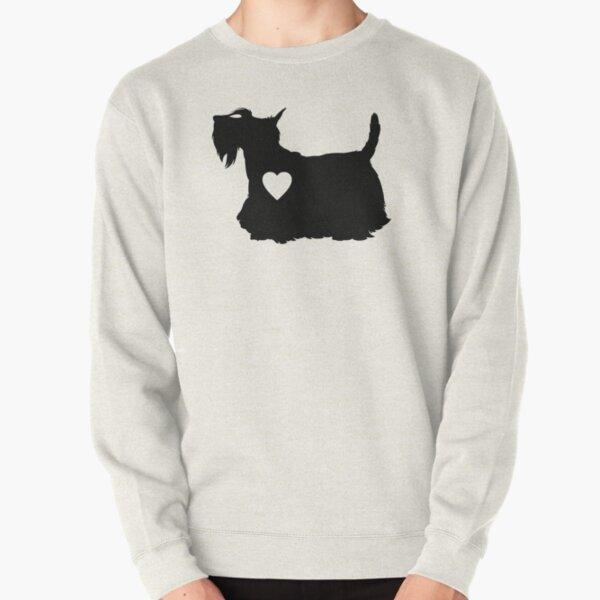 Scottish Terrier love heart, dog, dog mom, dog dad Pullover Sweatshirt