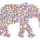 Floral Elephant by Van Nhan Ngo