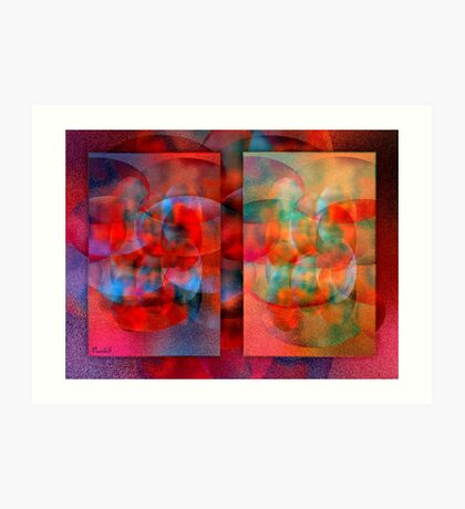 Cell division: male - female Art Print