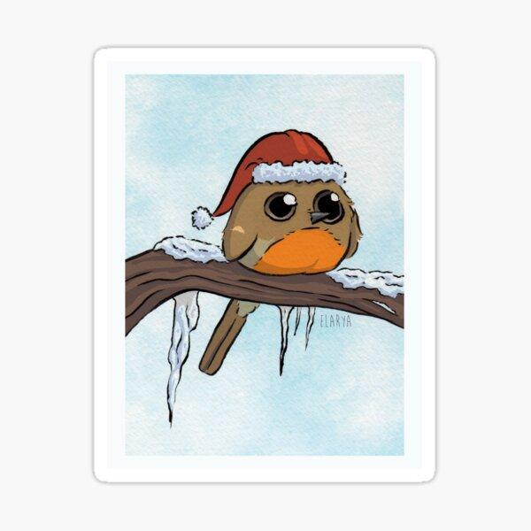 Rougegorge de Noël Sticker